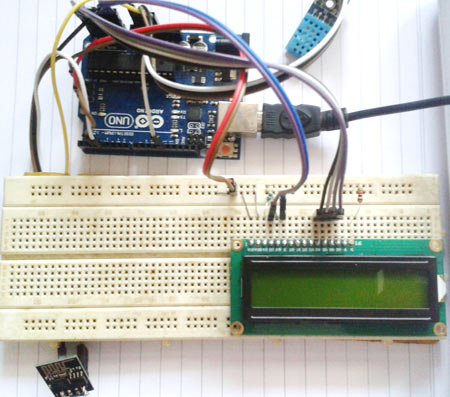 Arduino Humidity and Temperature Monitoring over Internet