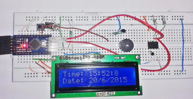 Arduino Digital Clock Alarm