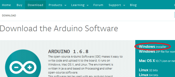 Arduino IDE download LED blinking_1
