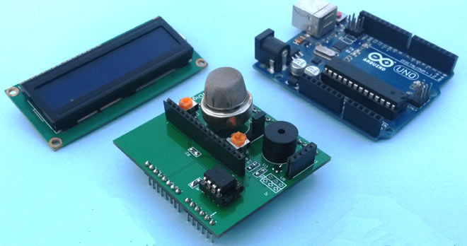 Diy Arduino Smoke Detector Shield Using Mq2 Gas Sensor