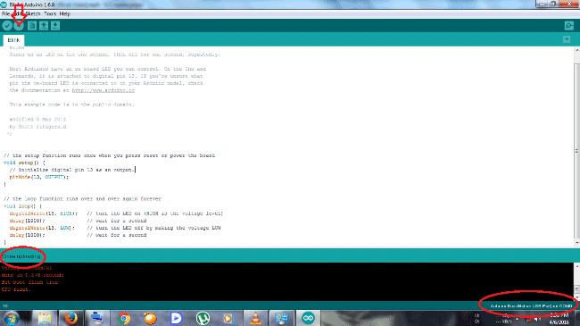 Arduino ide upload program