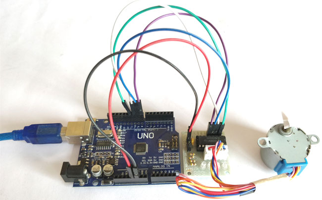 Wondrous Arduino Stepper Motor Control Tutorial With Code And Circuit Diagram Wiring 101 Capemaxxcnl