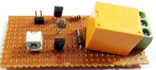 Automatic Street Light circuit using LDR and relay