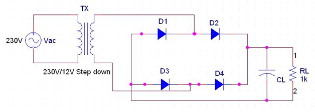 Full Wave Rectifier Circuit Diagram Center Tapped Bridge Rectifier