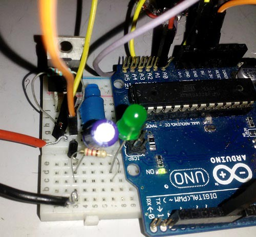 Buck Converter circuit using arduino