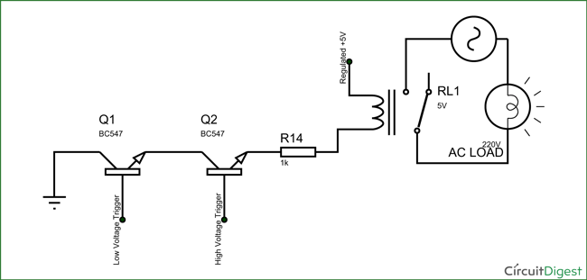 relay circuit breaker diagram