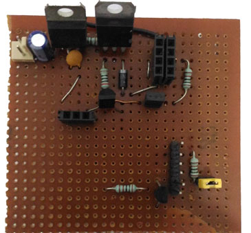 ESP8266 Security System Circuit on Perf board
