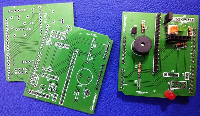 Earthquake detector arduino shield PCBs