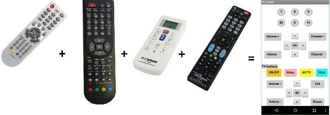 smartphone based arduino universal ir remote control