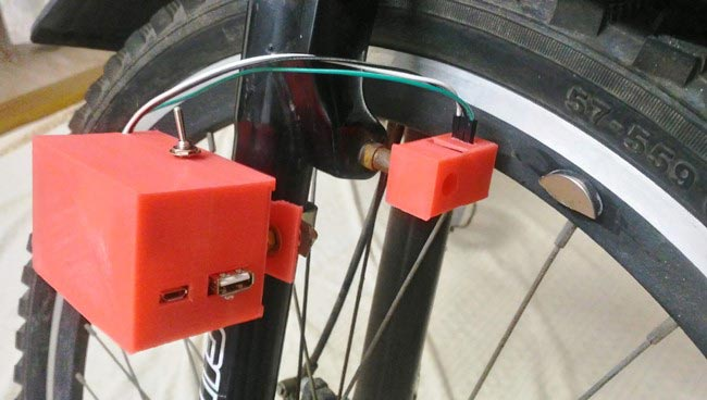 Installed-3D-printed-arduino-speedometer-box-on-bicycle