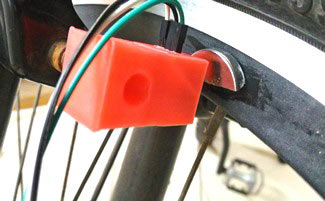 Installing-3D-printed-hall-sensor-board-box-on-bicycle