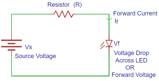 led resistor calculatorled resistor circuit diagram