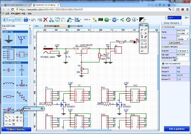 LED-scroll-bar-Circuit