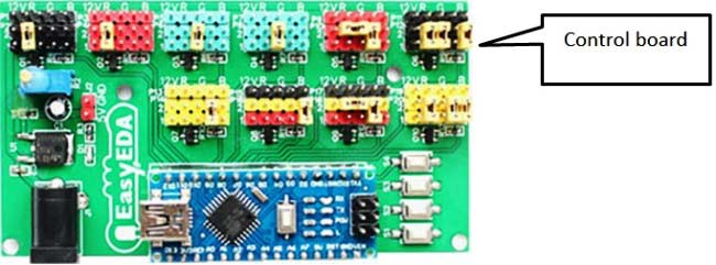LED-scroll-bar-control-board