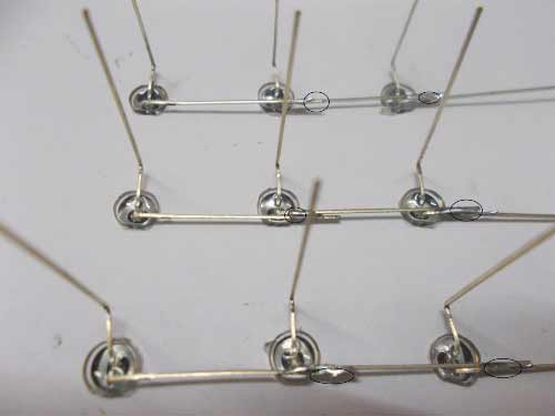 LED Cube soldering rows