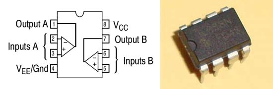 op-amp LM358-Pinout