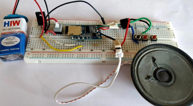 MP3 music player circuit