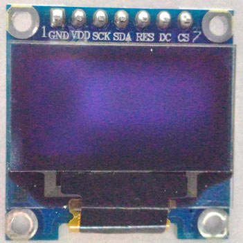 Monochrome 7-pin SSD1306 0.96 OLED display