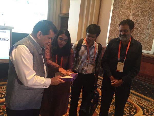 Mudra presenting to Amitabh kant CEO of NITI Aayog