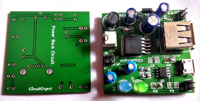 PCB for power bank pcb circuit using TP4056 and XL6009