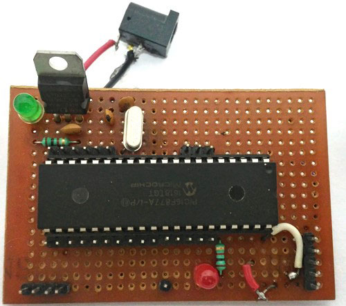 PERF baord for PIC Microcontroller tutorials