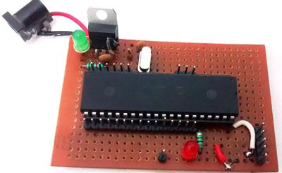 PIC-perf-board-for-LED-blinking-squence-in-PIC-microcontroller