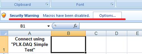 PLX DAQ in Excel Sheet