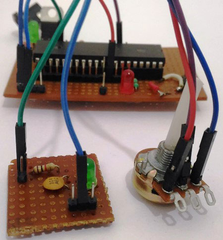 pic microcontroller pwm tutorial using mplab and xc8 pwm pic microcontroller perfboard