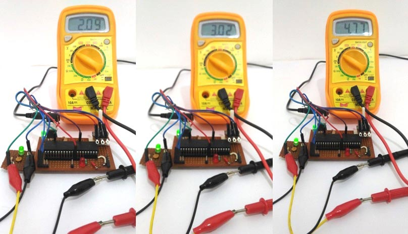 PWM-with-PIC-Microcontroller-demo-with-multimeter