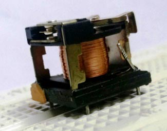Picture of internal mechanical parts of relay
