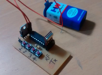 Wireless Rf Remote Control Circuit Diagram | Rf Controlled Robot Project And Circuit Diagrams For Rf