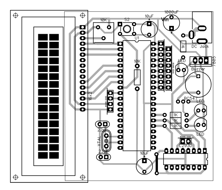 PCB Layout for RFID based Attendance System