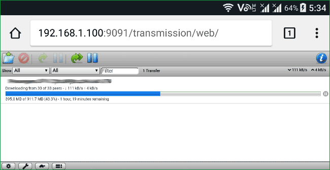 Raspberry-pi-torrent-box-transmission-on-Android