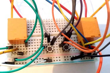 Relay Switch Motor direction Control with arduino