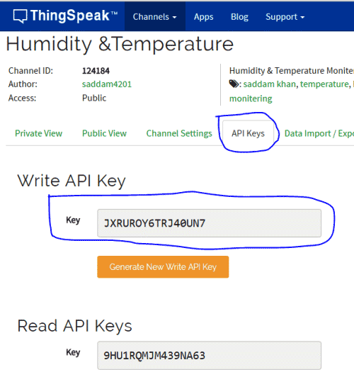 Temperature and Humidity Monitoring over Internet using Arduino and