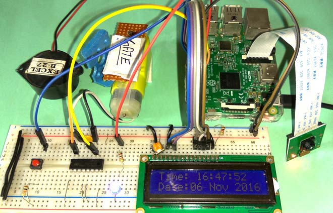 Raspberry pi projects - visitor monitoring with pi camera