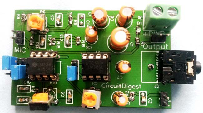 Voice-Modulator-Circuit-on-PCB