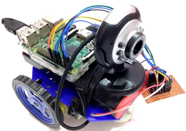 DIY Web Controlled Raspberry Pi Surveillance Robotic Car