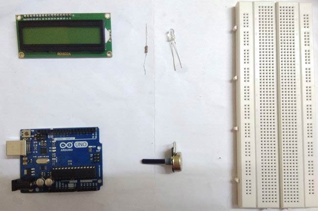 components for arduino based digital ammeter