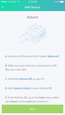connect arduino