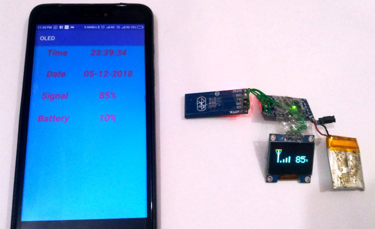connecting OLED display with Android Phone using bluetooth