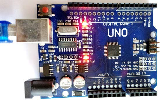 controlling onboard led of arduino using python