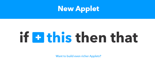 Create new applet