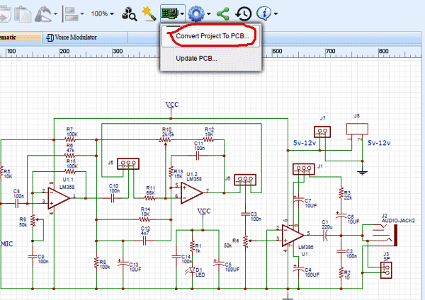 design-Circuit-of-Voice-Modulator-Circuit-with-EasyEDA-11