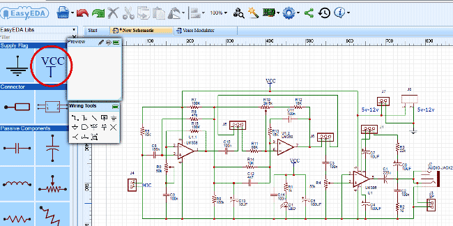 design-Circuit-of-Voice-Modulator-Circuit-with-EasyEDA-9