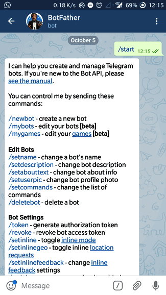 fatherbot creating new telegram bot for raspberry-pi