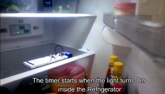 fridge door alarm circuit inside Refrigerator
