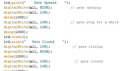 commands to open the gate