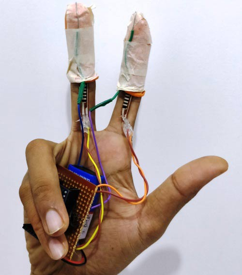 generating sound by tapping fingers using arduino