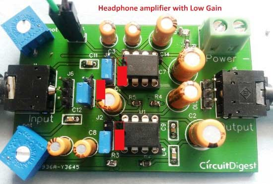 Headphone/Audio Amplifier Circuit on PCB using LM386